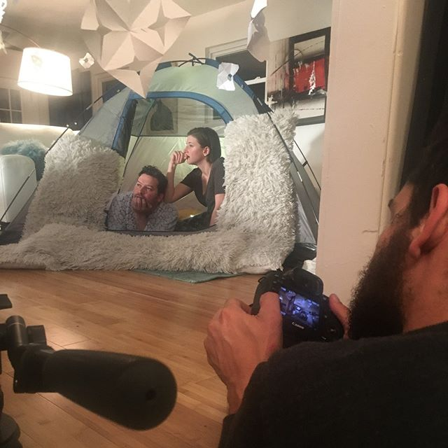 It took so long to stage this tent scene, but it was so worth it! #BTS @cpearce90 @ivykmeehan @duncancoe