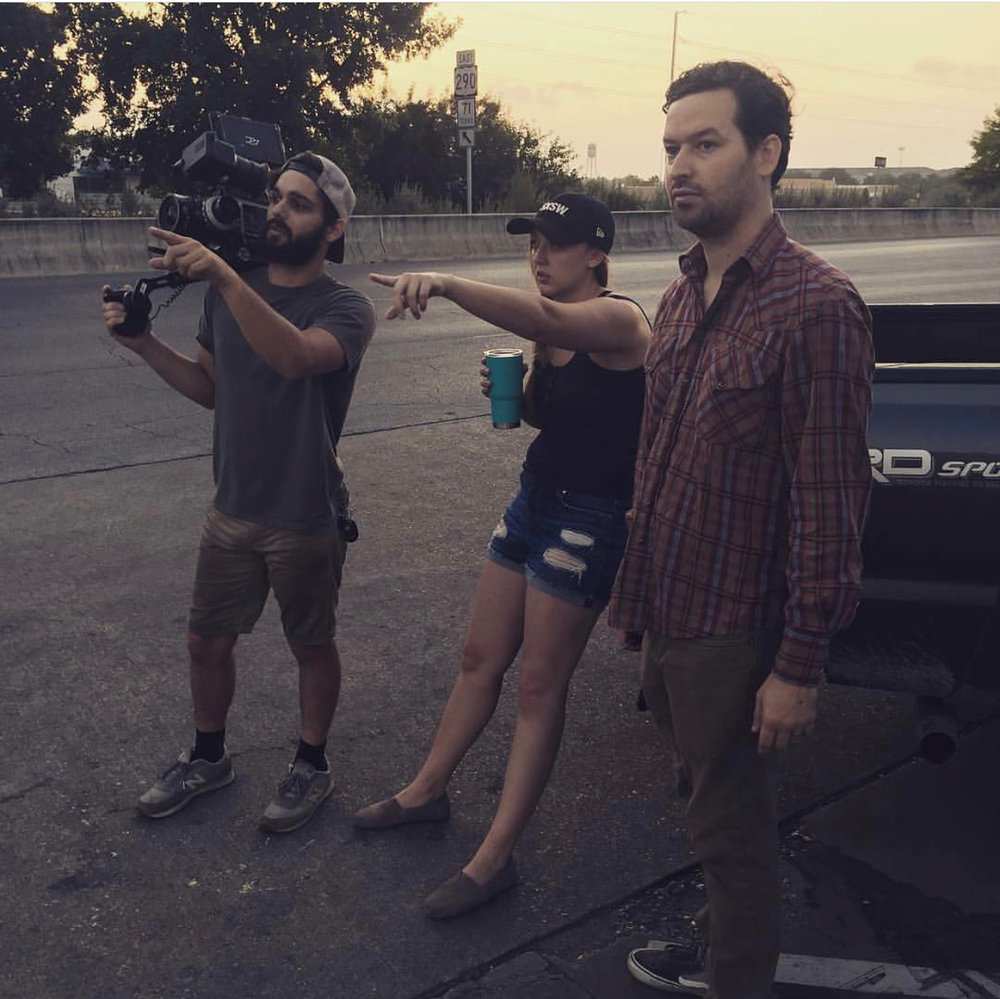 Charlie (DP), Me (Director) & Duncan (Barry) setting up our first pick-up shot