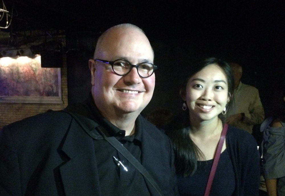 Veteran writer and advertising executive Malachy Walsh with Great Connections attendee Sheidy Li Cam.