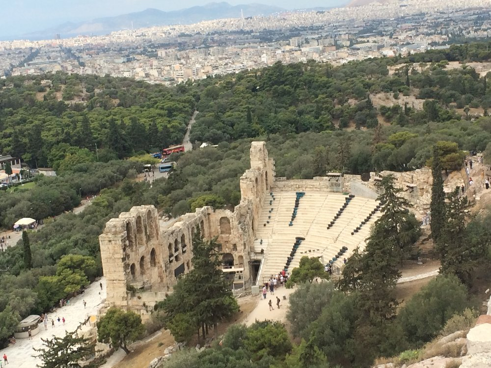 The ancient theater - visible from The Acropolis.