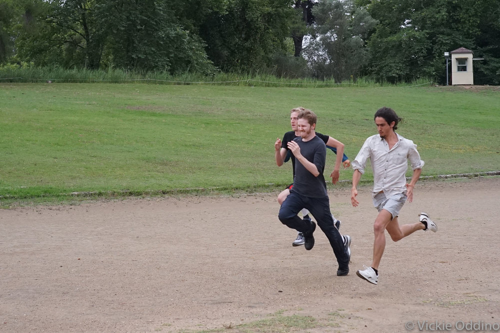 In the Olympic Stadium ruins, the winner is Matt Faherty! - But Bill and Ian were very close.
