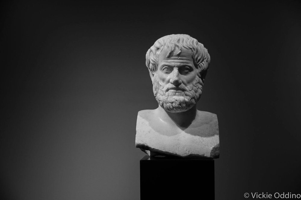Ancient bust of Aristotle - we lucked out that it was at the Acropolis Museum