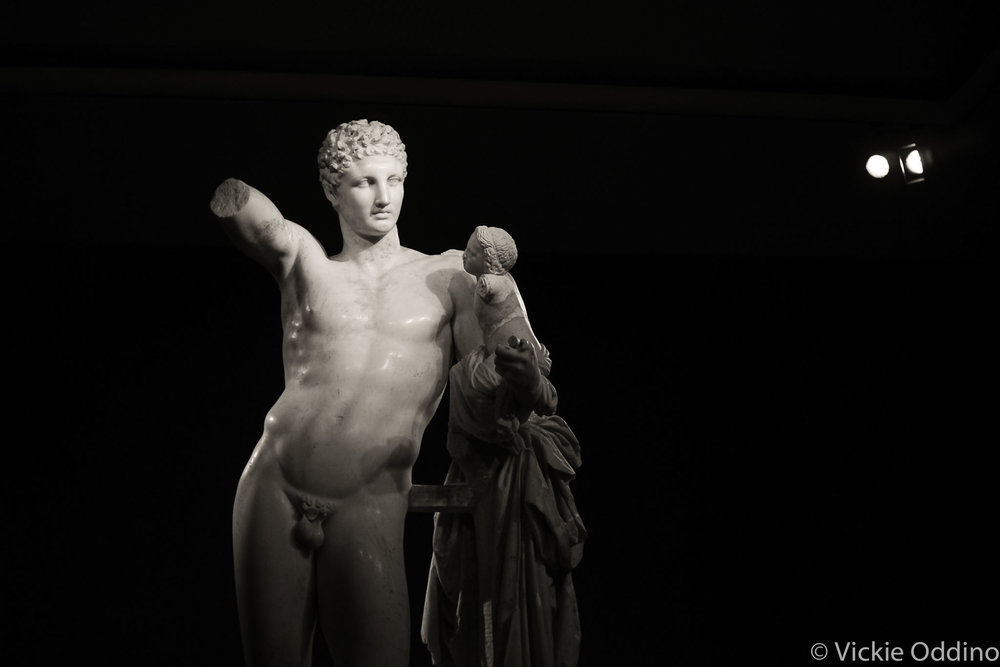 Hermes and Dionysus by Praxiteles