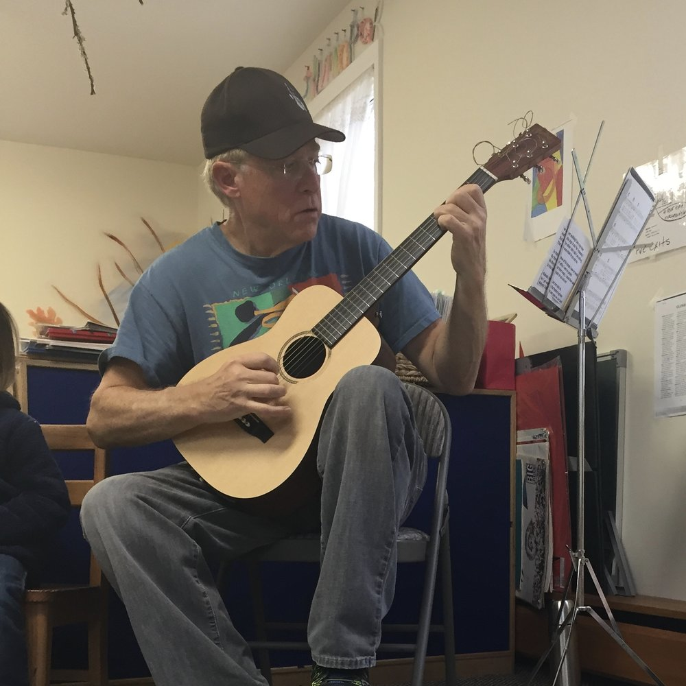 Music - We loved listening to, dancing to, and writing our own music with John Moses when he visited our class this November. We clapped and danced to the beat and rhythm of the songs, learned about the pitch of notes, and discovered how a guitar sounds different from a slide whistle. Thank you,Mr. Moses for sharing your love of song and music with us at The Tot's Spot!