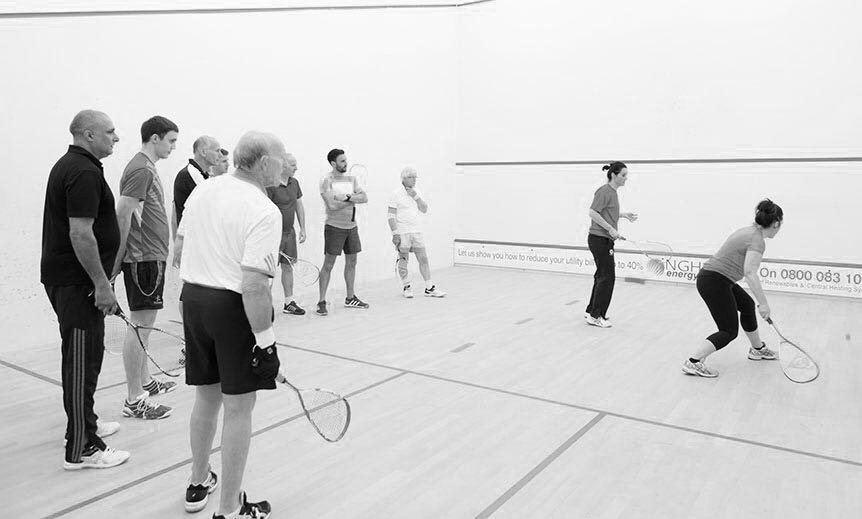 Infinitum Squash Adult Club Members During Practice