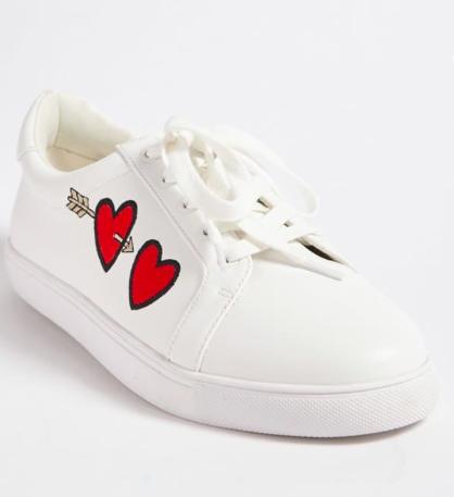 Semi-Gucci Inspired White Sneakers -