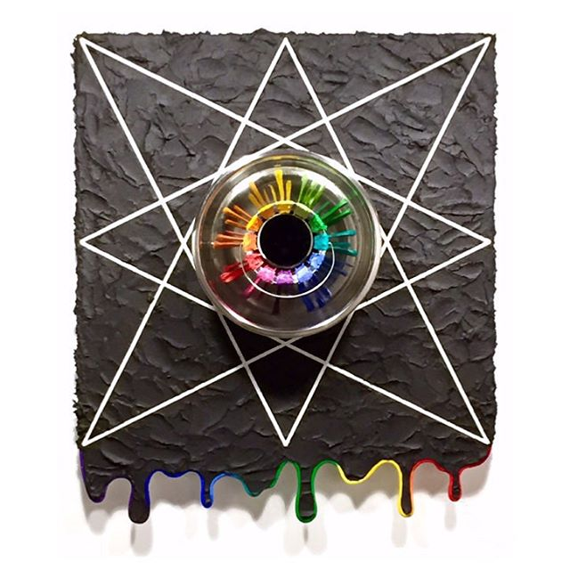 "Bruce Wall, ""Everybody's Self-Portrait"", 2015 #brucewall #contemporaryart #painting #mixedmedia #sculpture #colorwheel"