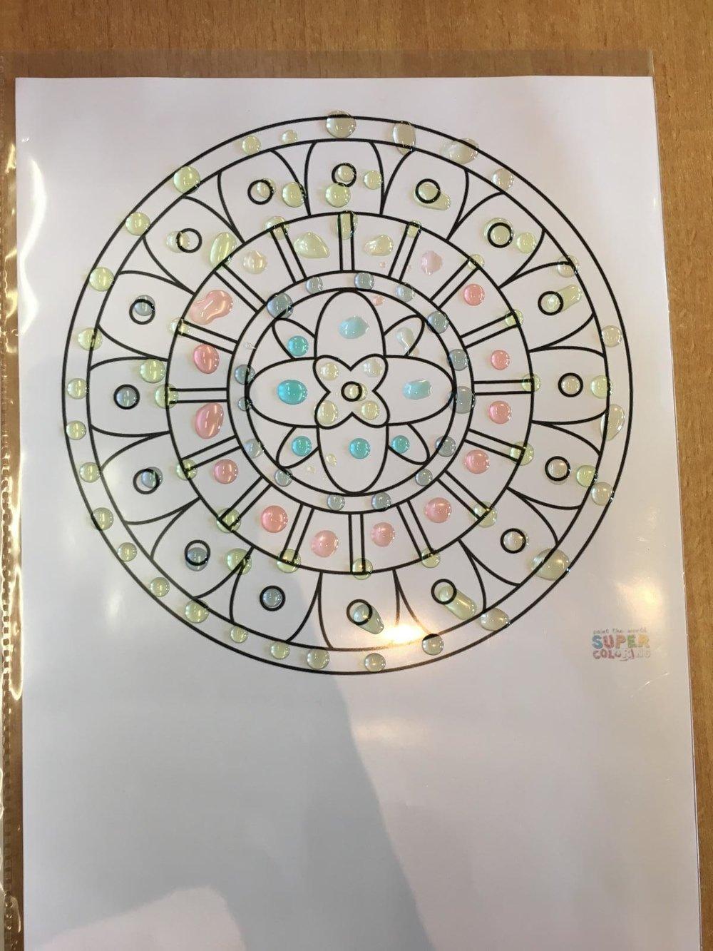 Mandala aus der 1b Klasse