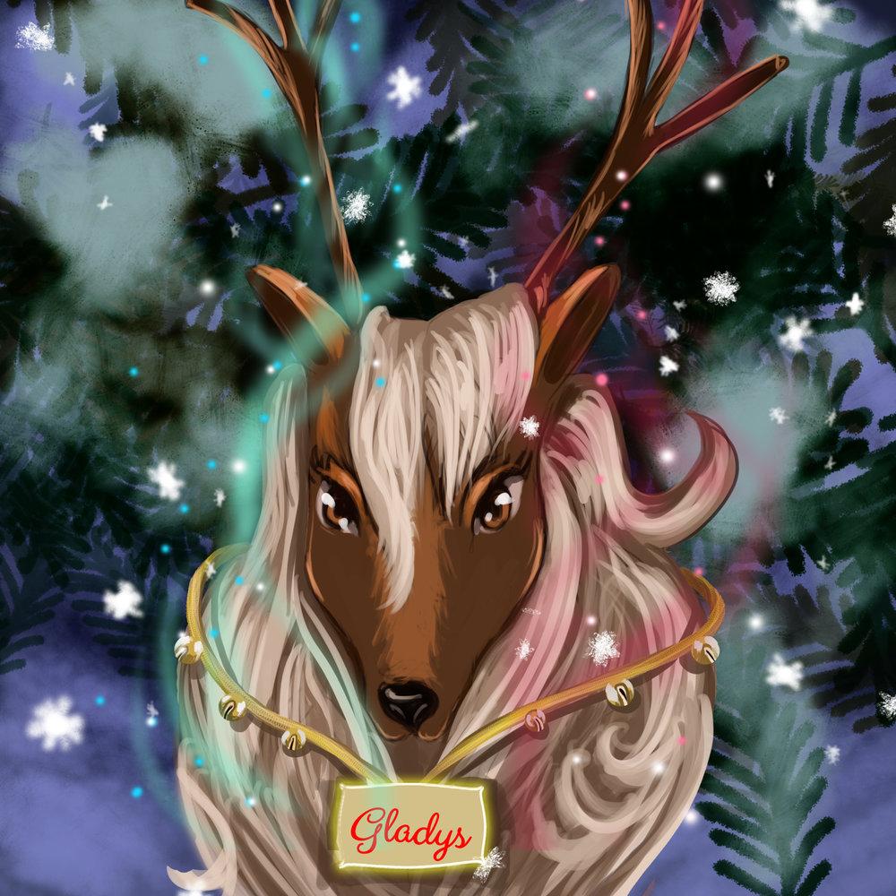 Gladys the Reindeer.