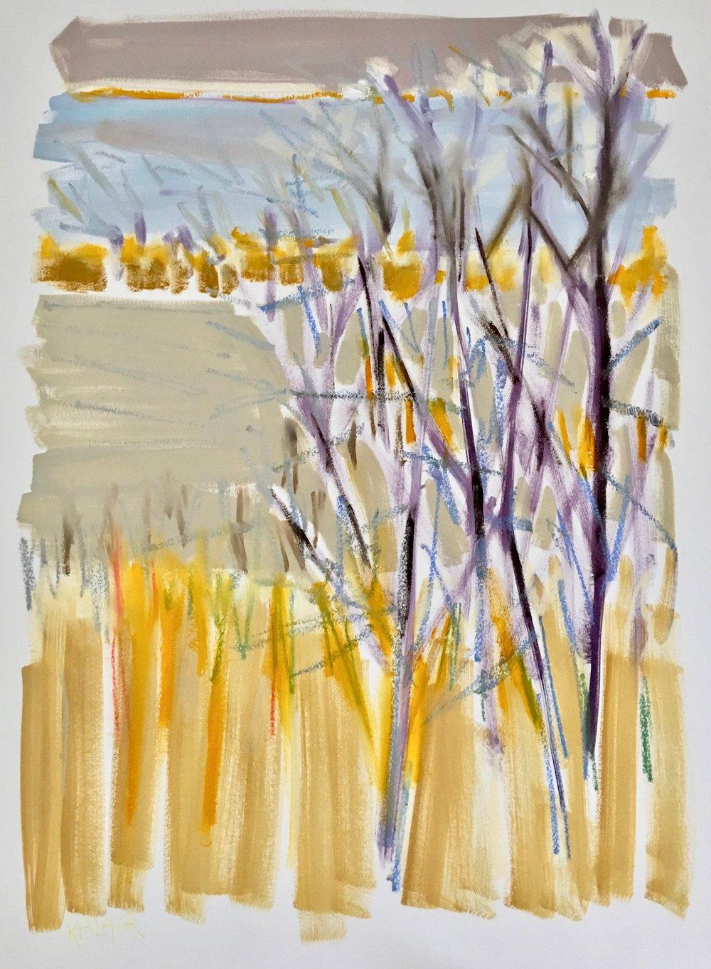 Winter Trees II, 30x23