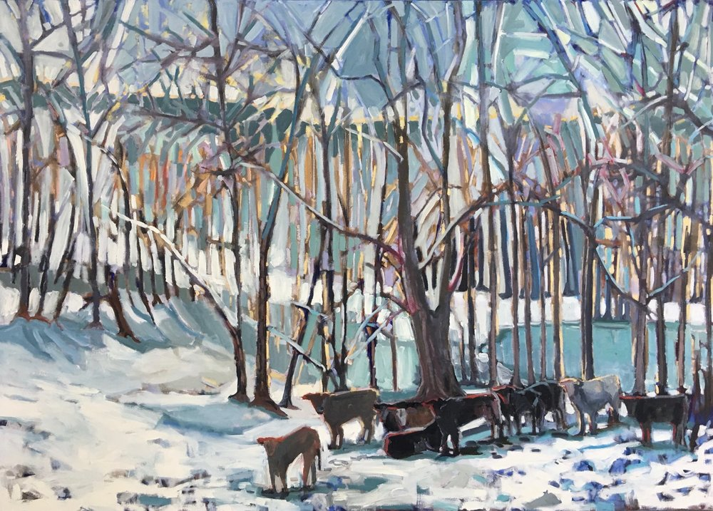 Cows in the Snow, 60x84