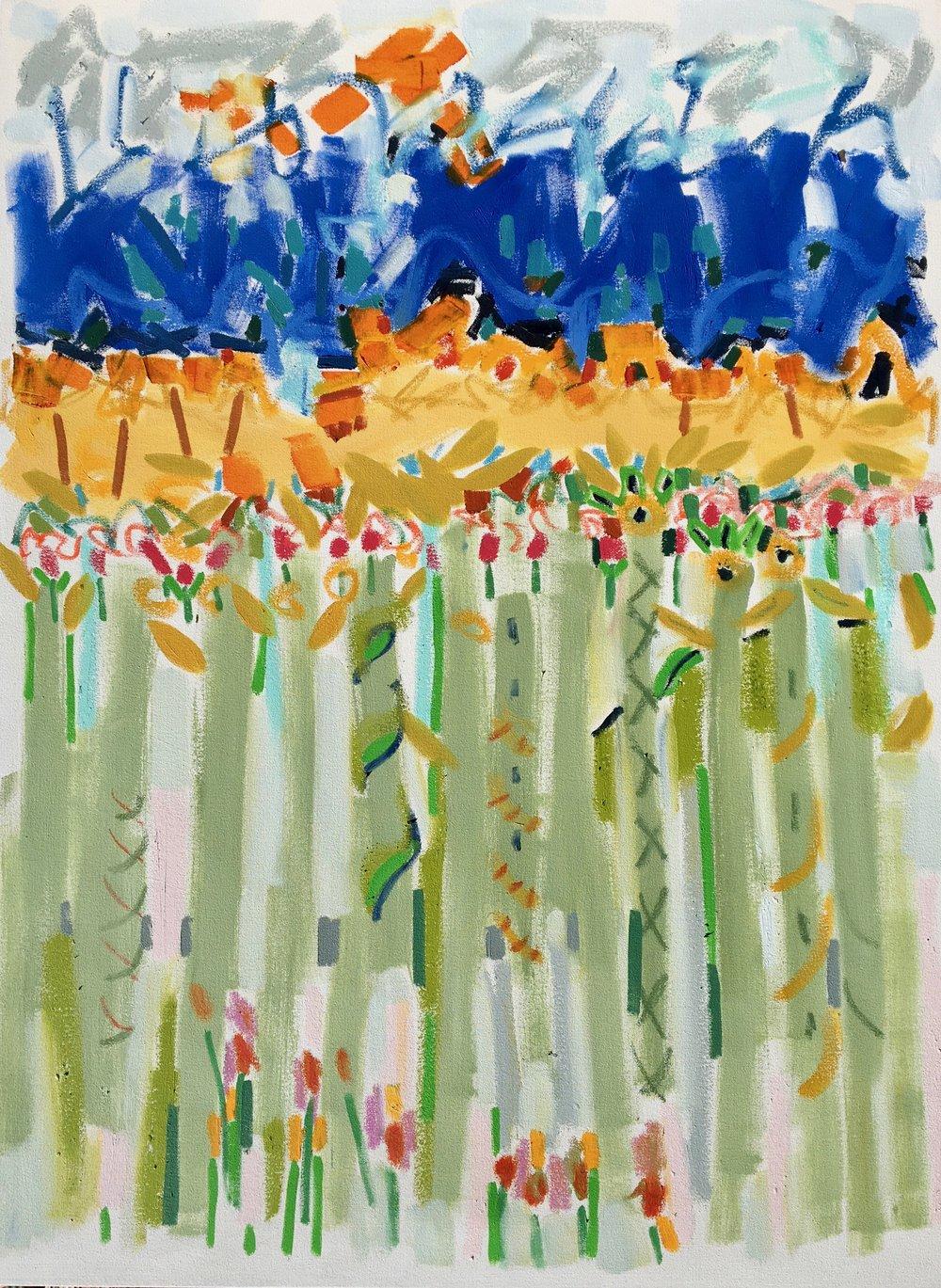 Jimmy Plants the Garden I, 48x36