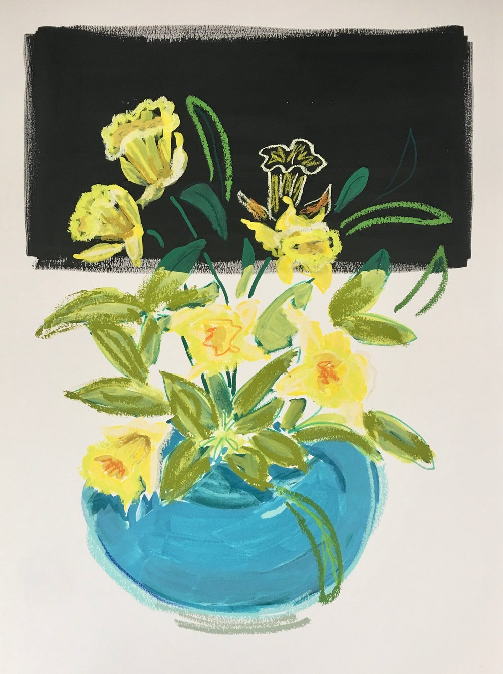 Daffodils in a Bowl II, 30x23