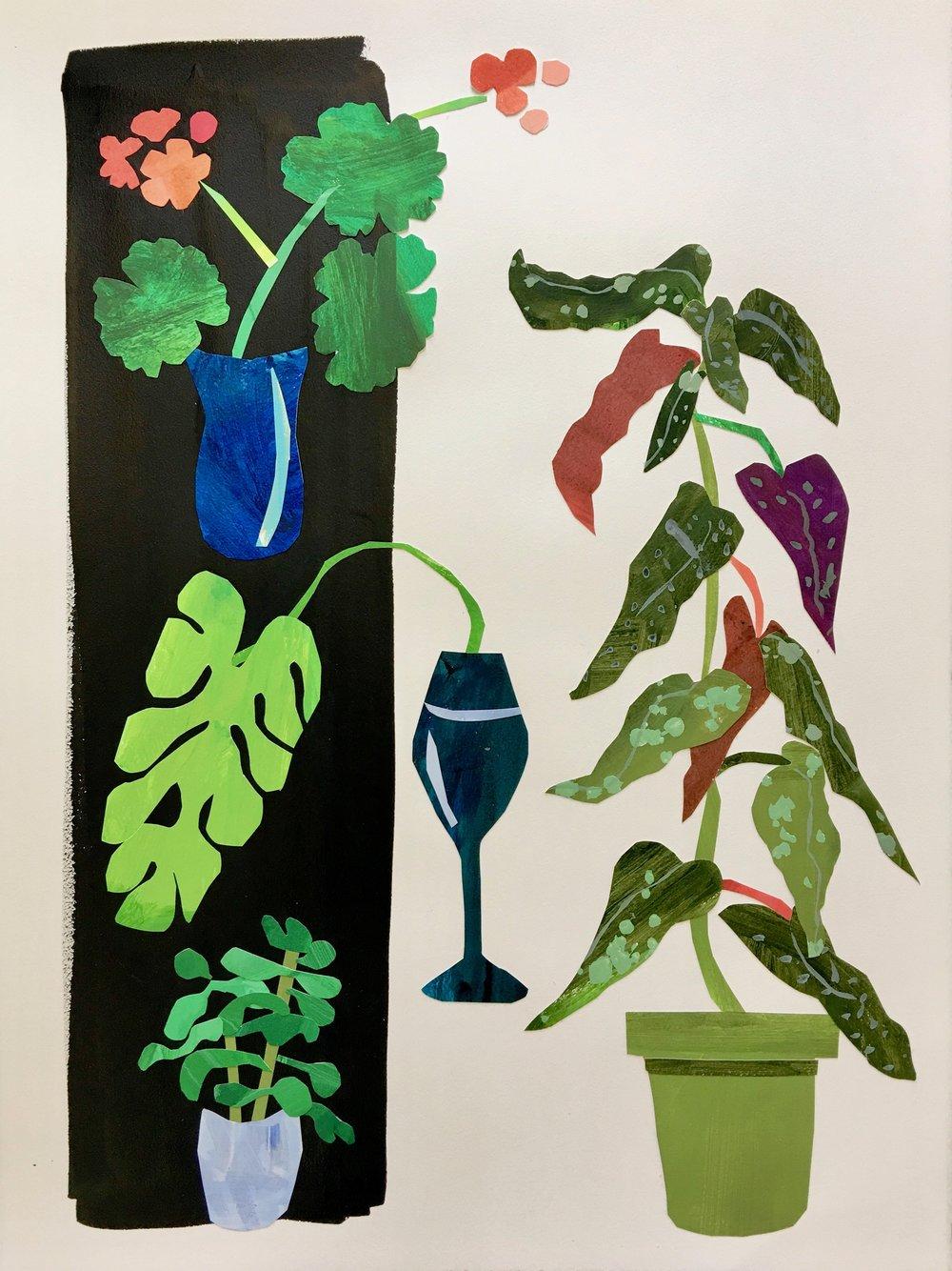 Collage, Kitchen Window I, 30x23