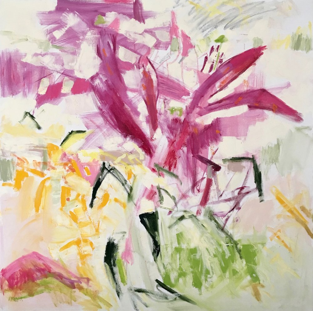 Asiatic Lilies, 43x43