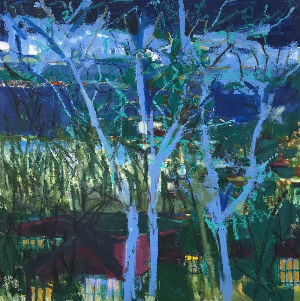 Trees at Night, 36x36