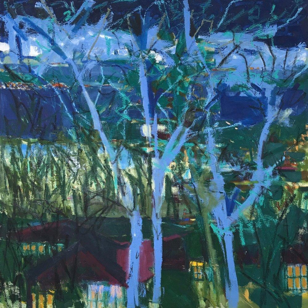 Trees at Night, 36x36