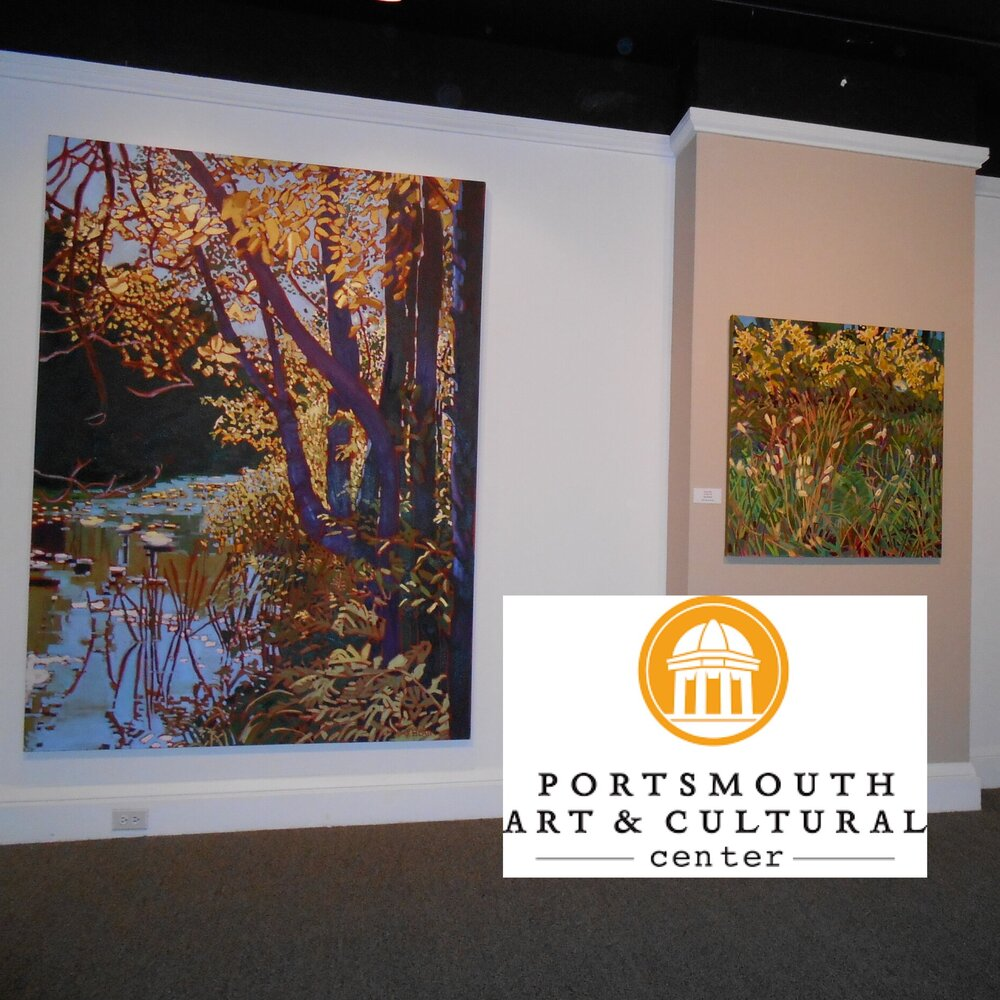 Portsmouth Show Gallery Trees, Goldenrod and Iris.jpg