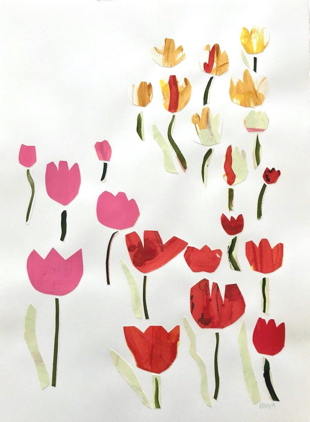 Collage, Planting Bulbs II, 30x23