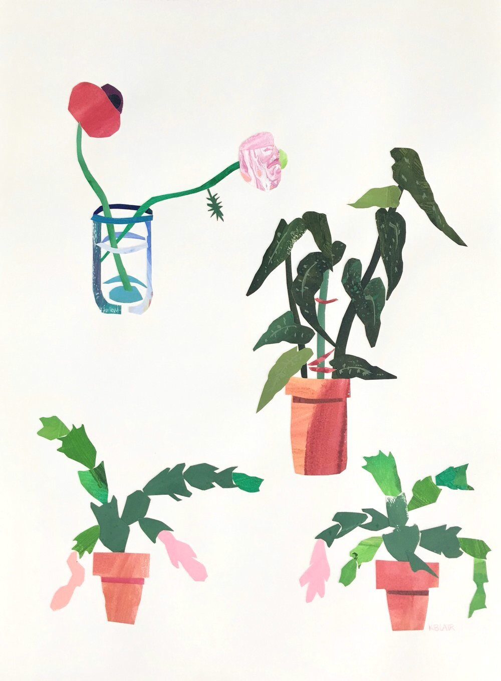Collage, Potting Shed I, 30x23