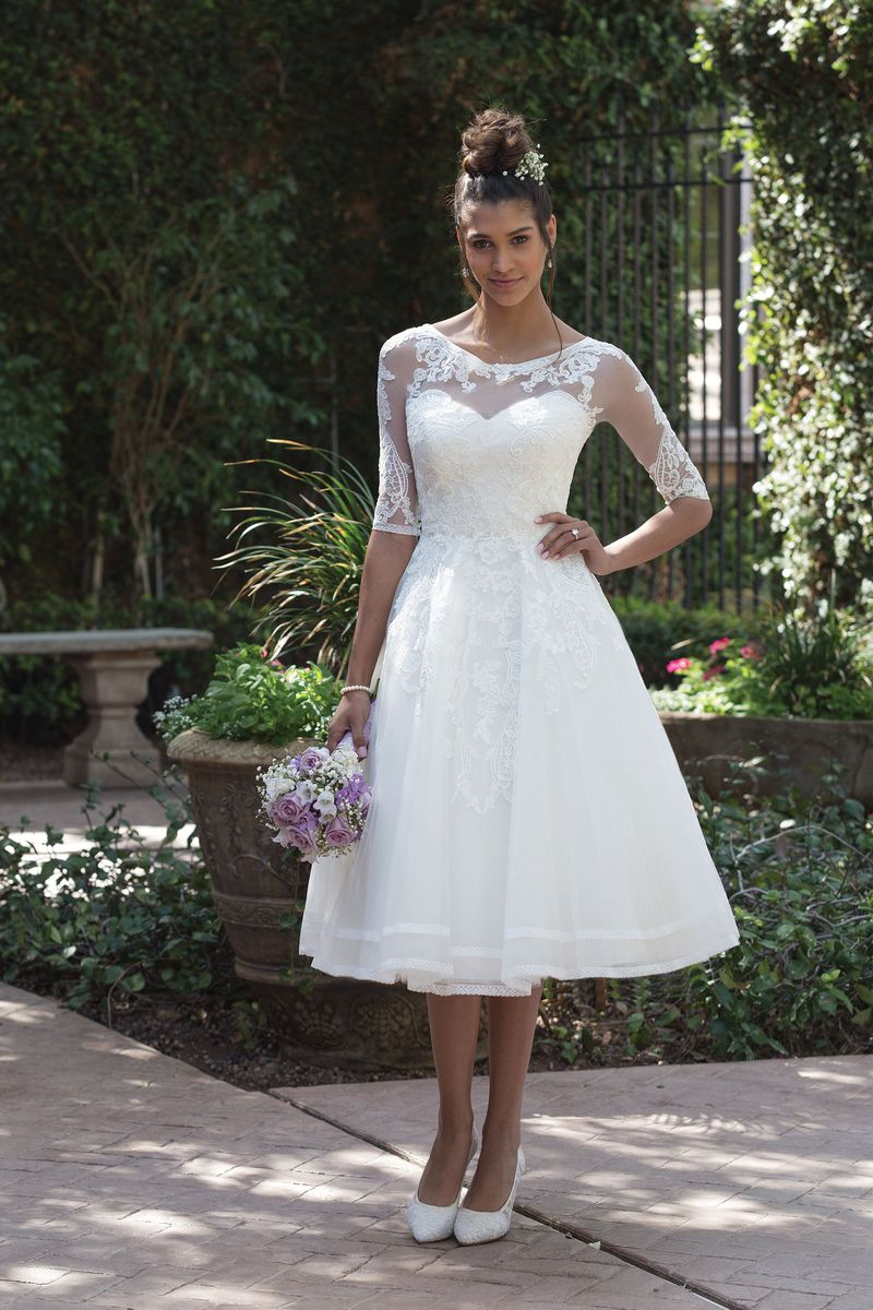 Sincerity T-Length Bridal gown. Style #4000