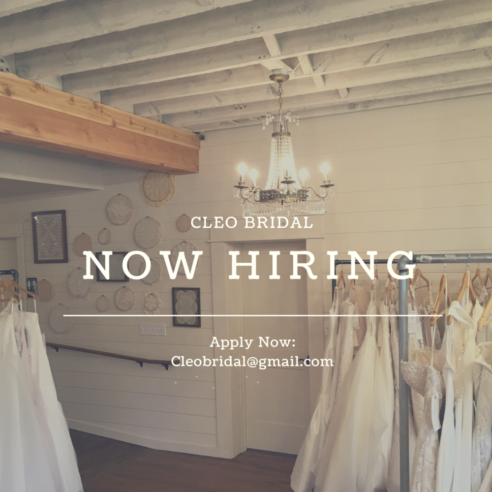 cleo bridal now hiring