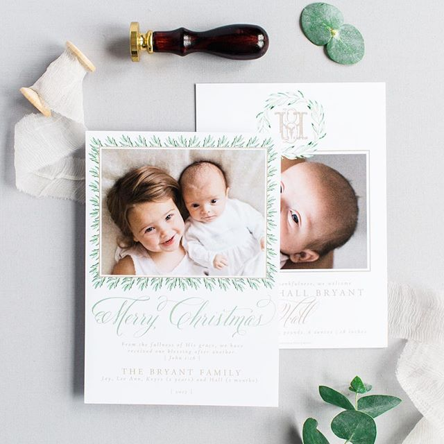 Are you having a baby this fall? One of our favorite types of Christmas Cards is a Christmas/ birth announcement combo! These are very popular and beautiful. What better way to save money and time!! . #celebratelifeonpaper #customchristmascard #custombirthannouncement