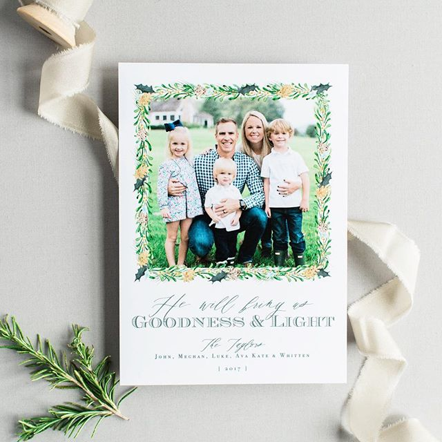 Simple & Elegant. . Order your Christmas cards now thru December 7th! . #customchristmascards #celebratelifeonpaper #customstationery #christmascard