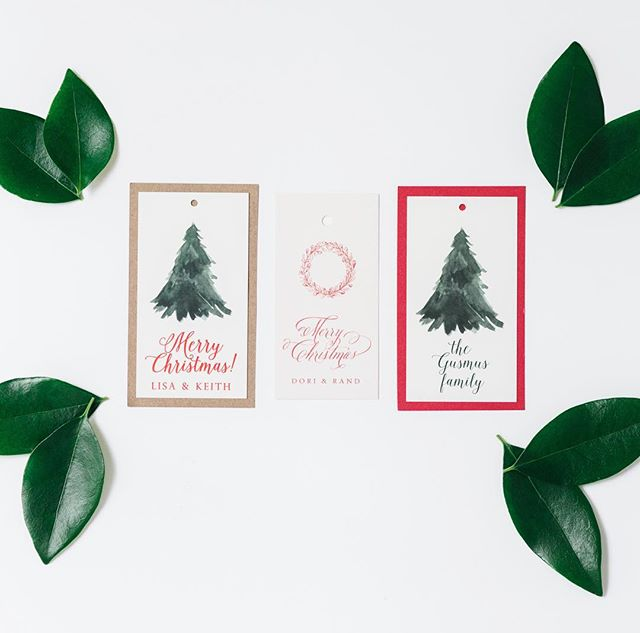 Give me all the Christmas tags! Perfect for you...great gift for a friend or hostess! #customchristmastags #celebratelifeonpaper