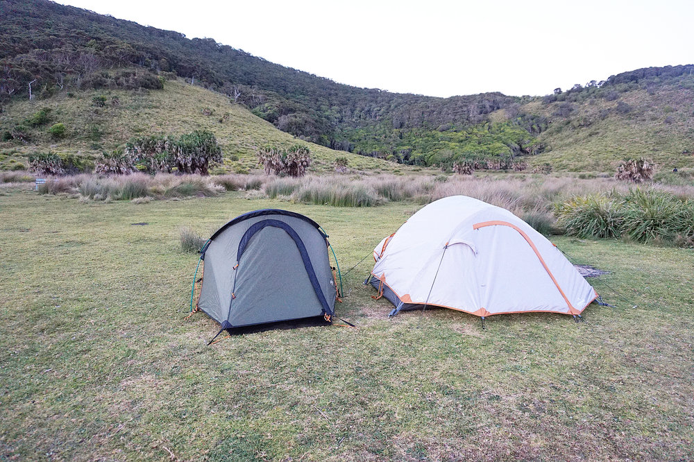 Hiking the Royal National Park Coast Track Camping