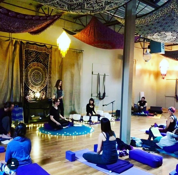 Donation yoga class held at Total Body Yoga