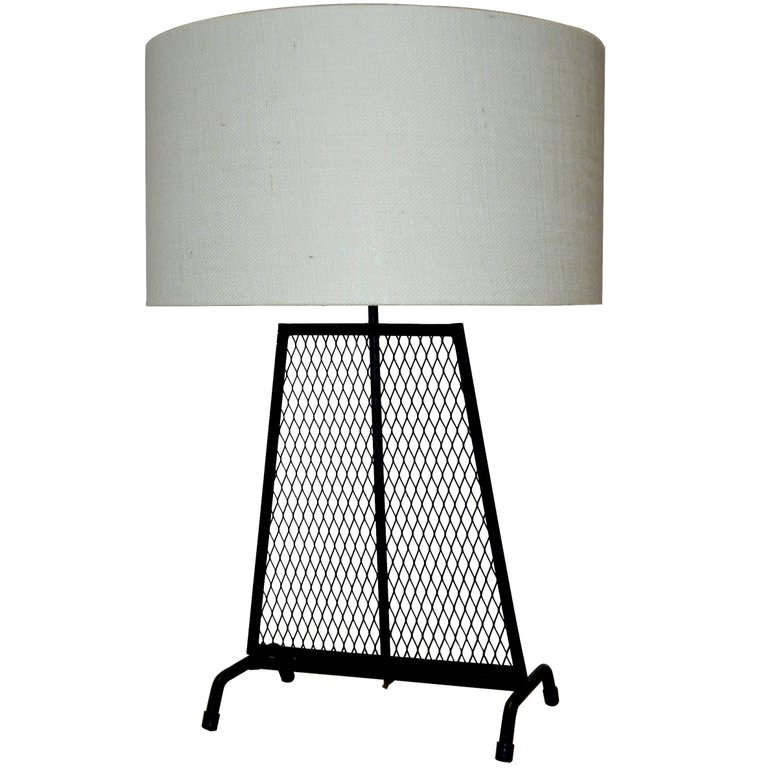 MID CENTURY MODERN WROUGHT IRON LAMP