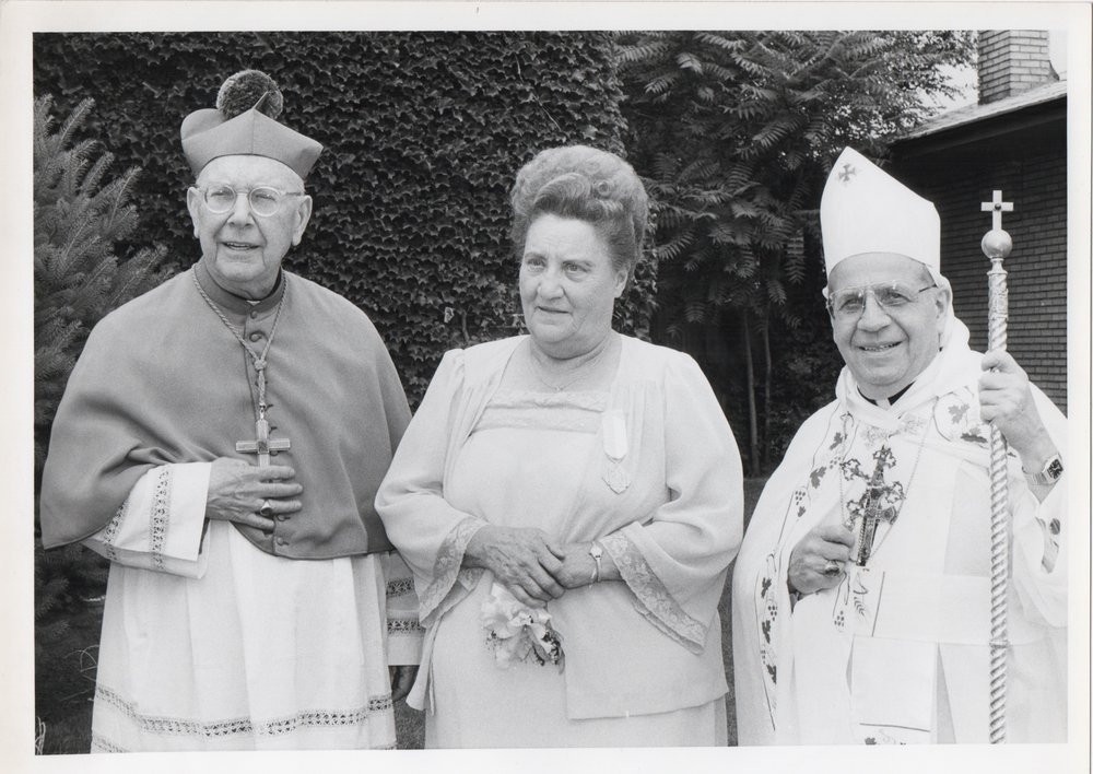 My beloved Granny with the Bishop and a priest.