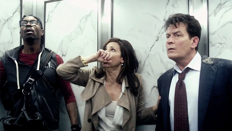 """Directed by Martin Guigui  Runtime: 90 minutes  A group of 5 people find themselves trapped in an elevator in the World Trade Center's North Tower on 9/11. They work together, never giving up hope, to try to escape before the unthinkable happens.  Starring Charlie Sheen (""""Two and Half Men"""", """"Wall Street""""), Whoopi Goldberg (""""The View"""", """"Sister Act""""), Gina Gershon (""""Face/Off"""", """"The Insider""""), Luiz Guzman (""""Boogie Nights"""", """"Carlitos Way""""), and Wood Harris (""""Remember the Titans"""", """"Creed"""")."""