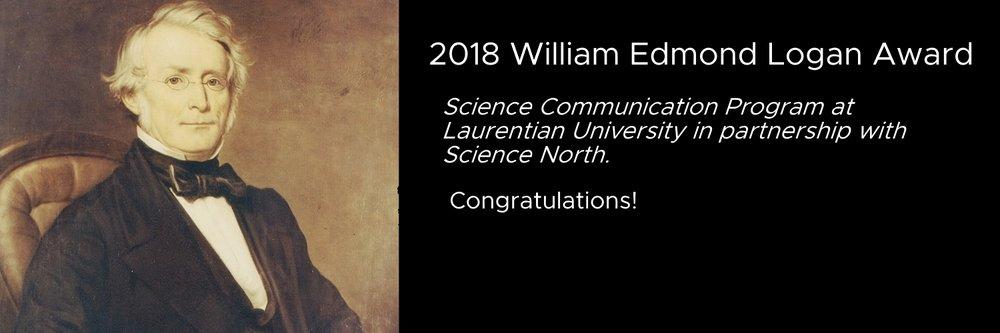 2018 William Edmond Logan Award