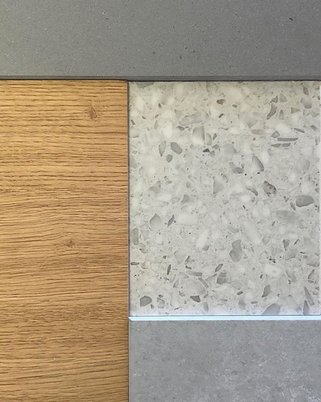 Our material selection for the main kitchen by @astercucineusa @cantonidesign, with @caesarstoneus counters. This is going to look so good! . . . . #caesarstone #texture #material #terrazzo #quartz #bridgehouse #losangeles #architecture #danbrunnarchitecture
