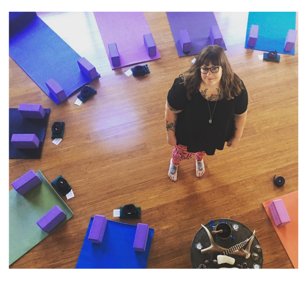 Amber Karnes, Body Positive Yoga Our yogi-in-residence, Amber works with humans who want to make peace with their bodies and build unshakable confidence. She leads our weekly in-house yoga class included for all members - come as you are and BYO mat!