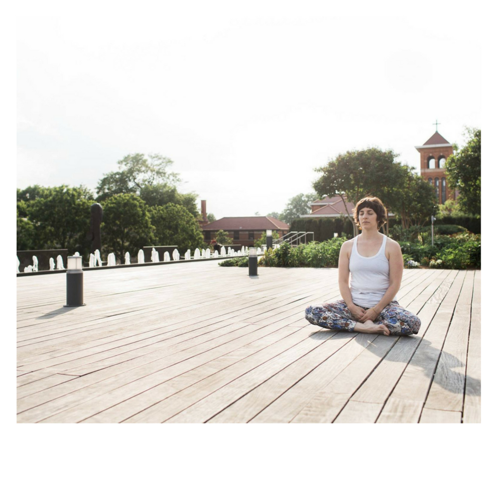 YOGI-IN-RESIDENCE  Ellie Burke,  Ellie Burke.Life   A certified life coach, yoga instructor, and meditation leader, think of Ellie as the master of all things zen.  Catch her leading yoga at 8:30 AM on Tuesdays, and the Broad Breather at 11:45 AM on Fridays.