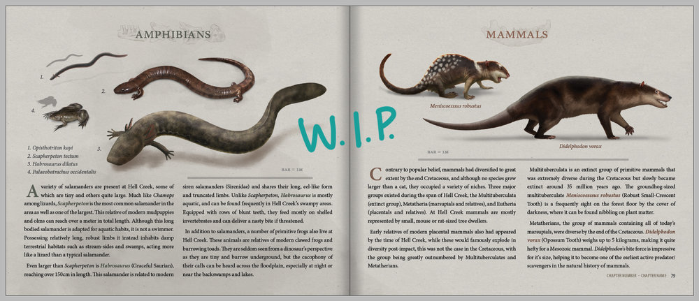 Here is a sneaky preview of a spread.