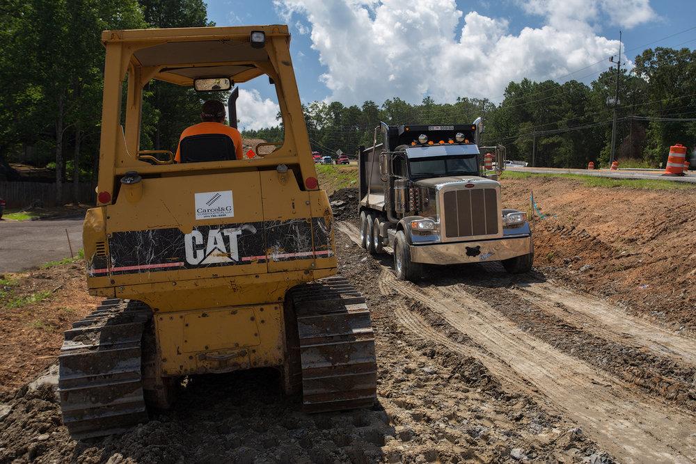 HWY 150 Bulldozer and Dump truck web.jpg