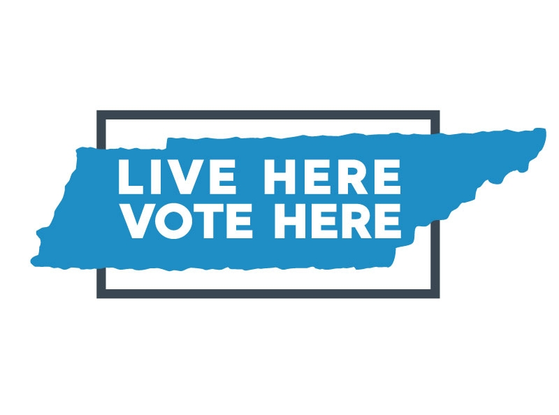 Live Here Vote Here   This organization is a nonpartisan nonprofit that promotes civic engagement to new residents of Tennessee. The logo, colors and brand language needed to reflect a light, upbeat and welcoming tone. Both the logo and promotional items were created with scale in mind - state shapes and abbreviations could be swapped if the organization decided to expand.    CLICK   to see the full package.