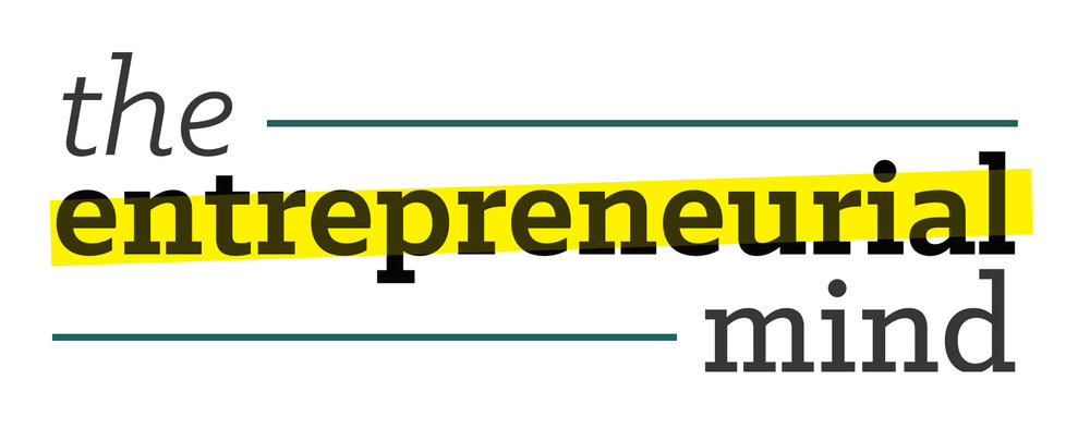 The   Entrepreneurial Mind   The Entrepreneurial Mind is a subscription-based online resource for people seeking education and information about how to start their own business. We wanted to utilize upbeat, bold colors to set a tone of excitement. The yellow swipe gives movement to the logo, evoking the action of physically highlighting a word, and also serves as a design element throughout the website.    CLICK   to see the full package