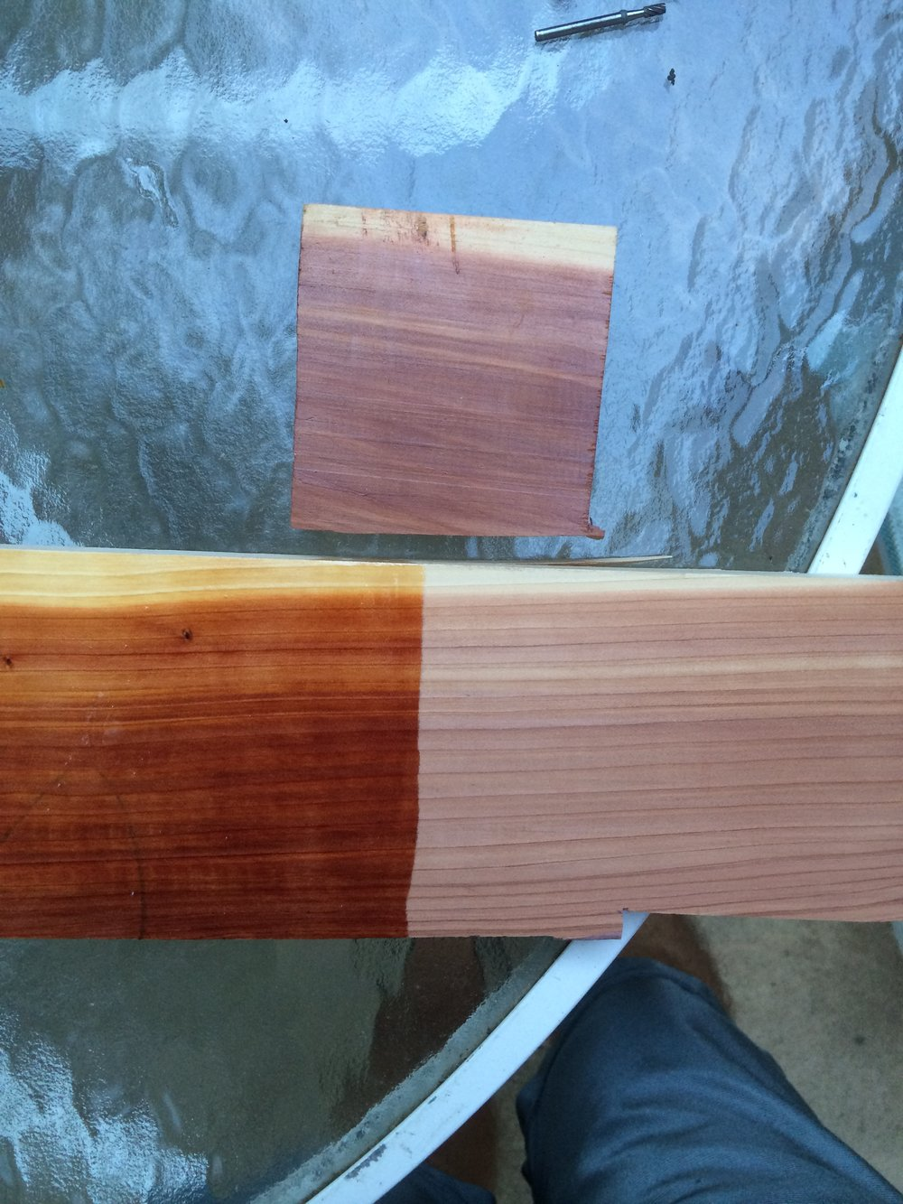 Testing poly and tung oil