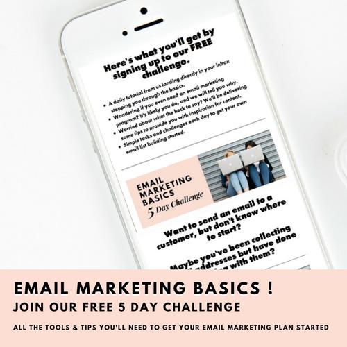 FREE 5 Day Challenge - Email Marketing Basics -