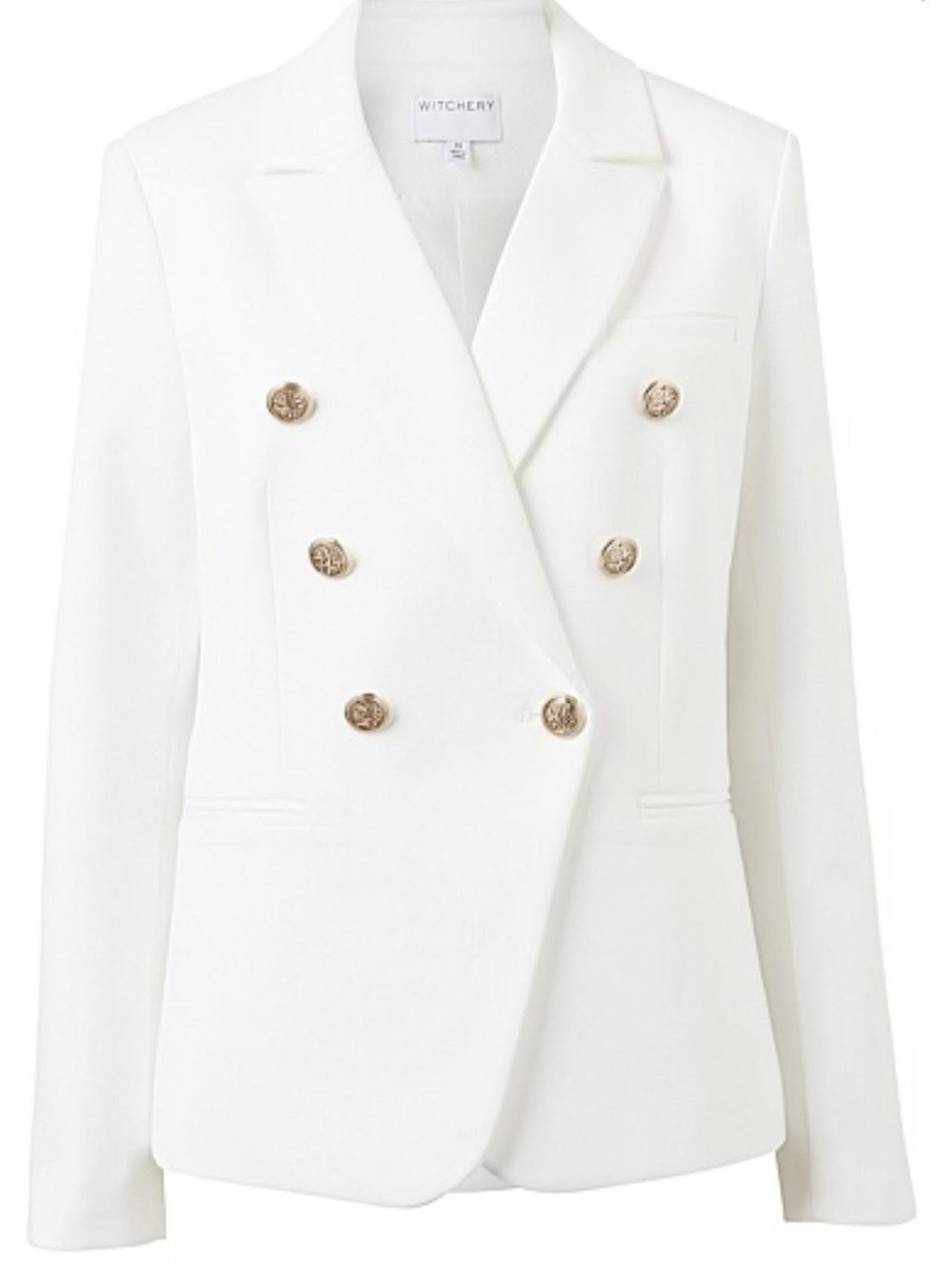 LESS Blazer - Witchery Double Breasted Blazer in MILK WHITE$279.952/778-782 Military Rd, Mosman(02) 9968 1647
