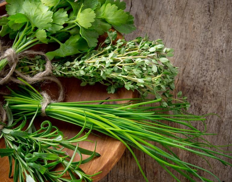 6. fresh herbs -
