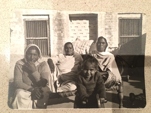 Nirmal (aged 2) pictured above with her Grandmother in Punjab.
