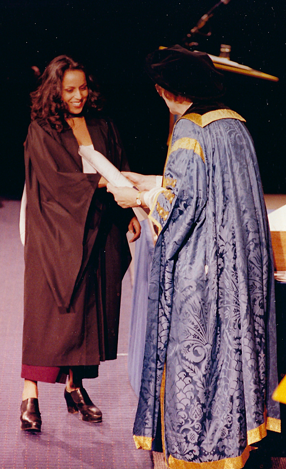 Graduating from Flinders University, South Australia, in 1995.