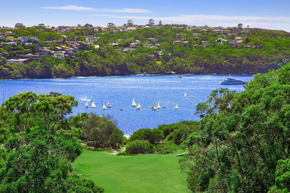 This stunning view, over Rosherville Reserve, awaits at 18 Kiora Ave, Mosman.