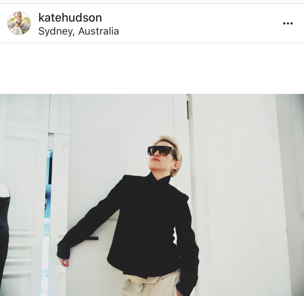 Image: Kate Hudson/  instagram